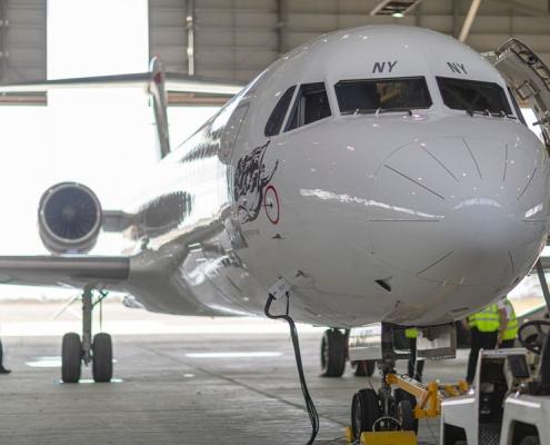 F100 repaint at Avalon Airport Australia